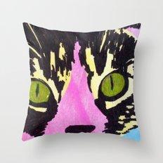 Pop Art Cat No. 1 Throw Pillow