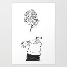 Not Stripes Art Print