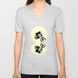 Moon Downhill T Shirt Unisex V-Neck