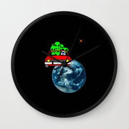 Ride to Mars selfie Wall Clock
