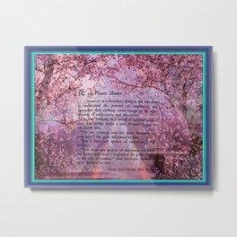 The Zen Flower Shower Metal Print