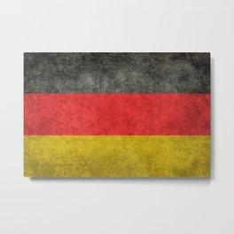 Flag of Germany in distressed grunge Metal Print