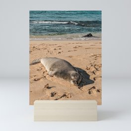 Beach Snooze Mini Art Print