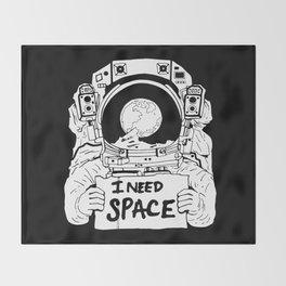 Major Spaceman Throw Blanket