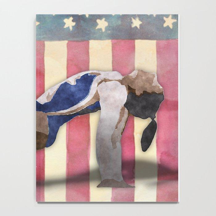 All American Gymnast Watercolor Notebook