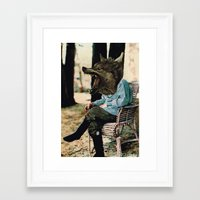 bad wolf Framed Art Prints featuring Bad Wolf by A.T. Velazco