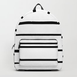 Simple Black and White Lines Decor Backpack