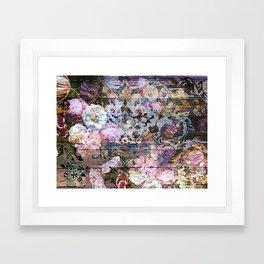 Shabby Chic floral rococo woodpanel Framed Art Print