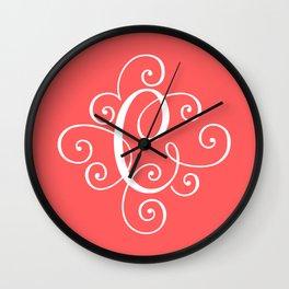 Monogram C Wall Clock