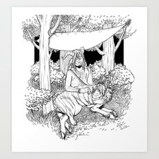 A Temporary Shelter (B&W) Art Print