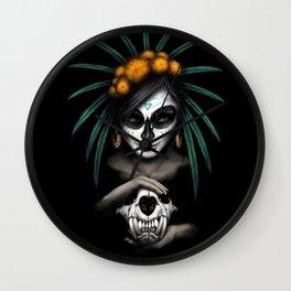 Voodo Dia De Los Muertos Day Of The Dead Sugar Ultra HD Wall Clock