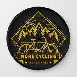 More Cycling Again Wall Clock