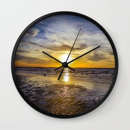cape charles sunset Wall Clock