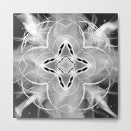 Silver Ornament at Night Metal Print