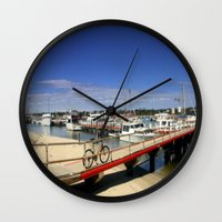 bicycle Wall Clocks featuring Bicycle  by Chris' Landscape Images & Designs