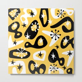 Retro Mid Century Modern Spaced Out Composition 328 Metal Print