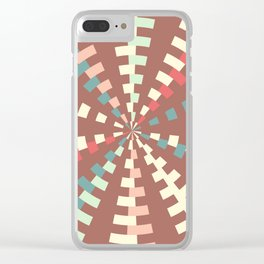 Dashed vortex Clear iPhone Case