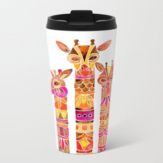 Giraffes – Fiery Palette Metal Travel Mug