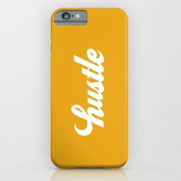 Hustle - Mustard Yellow iPhone Case