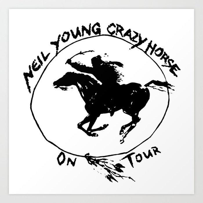 neil young crazy horse on tour nitrogen Art Print by nitrogenoksida