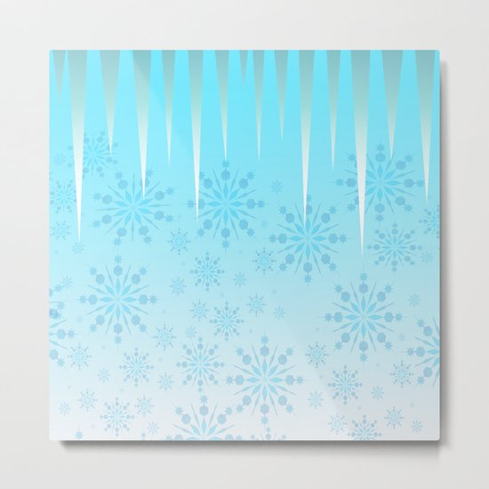 Blue Winter Wonderland Metal Print