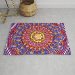 Jewel Drop Mandala Rug