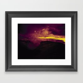 Storm on the Mountain Framed Art Print