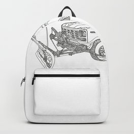 Snow Plow Truck Doodle Art Backpack