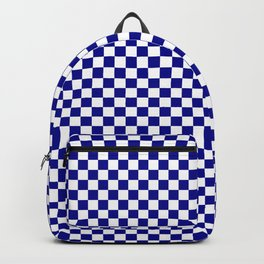 Large Australian Flag Blue and White Check  Checkerboard Backpack