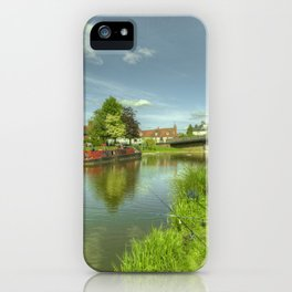Hungerford Wharf Fishing iPhone Case
