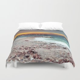on the beach after the storm, Croatia Duvet Cover
