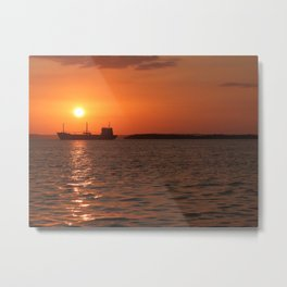 Sunset in Cuba Metal Print