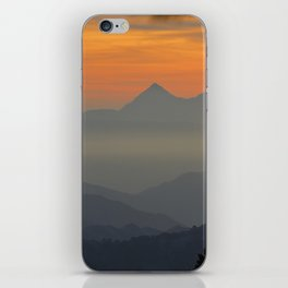"""""""Sunset at the mountains II"""" iPhone Skin"""