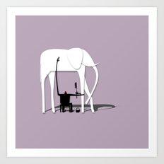Elephant's trip Art Print