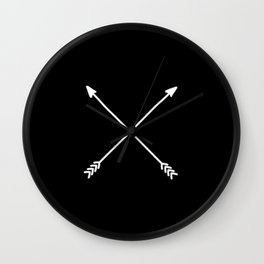 black crossed arrows Wall Clock