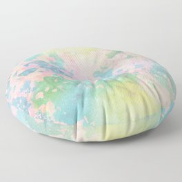 Pastel peeled off paint Floor Pillow