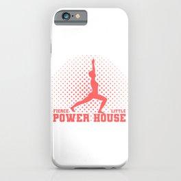 Fun Gymnast Gift Fierce Litte Power House Gymnast iPhone Case