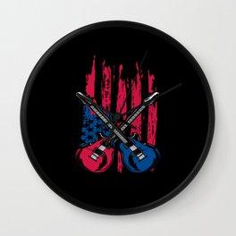 Guitar Patriot Wall Clock