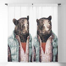 Black bear Blackout Curtain