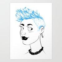 Sheena is... blue Art Print