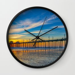 Textured Sand at Sunset Wall Clock