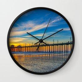 Textured Sand at Sunset Wall Clock