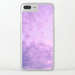 Purple Island Skies Clear iPhone Case