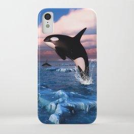 Killer whales in the Arctic Ocean iPhone Case