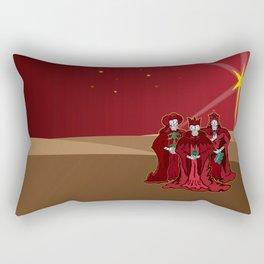 Three Wise Skulls Rectangular Pillow