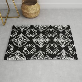 Victorian Gothic Holiday Wallpaper Rug