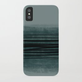 Grey lines iPhone Case