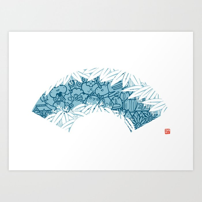 NATSU - summer Art Print