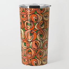 "Charles Rennie Mackintosh ""Roses and teardrops"" edited 6. Travel Mug"