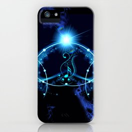 Key notes in blue iPhone Case